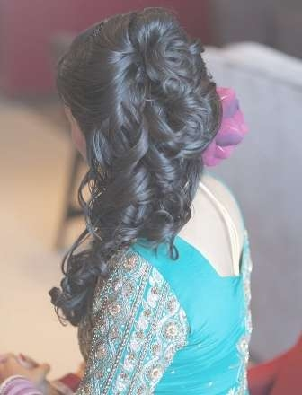 12 Indian Wedding Hairstyles For Women With Regard To Most Up To Date Medium Hairstyles For Indian Wedding (View 13 of 15)