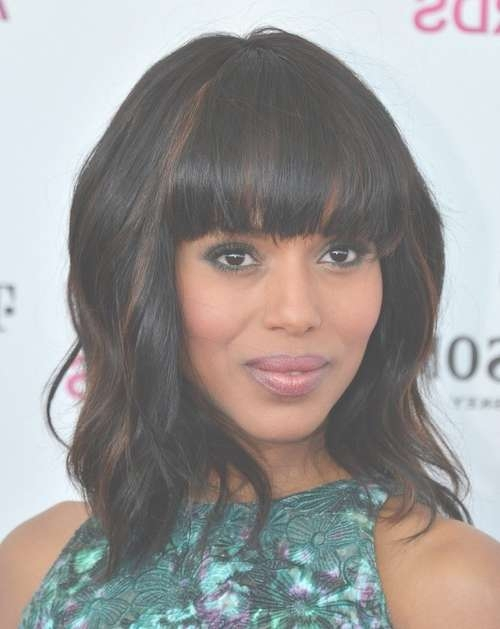 12 Kerry Washington Hairstyles – Popular Haircuts Throughout Current Medium Hairstyles And Highlights (View 9 of 15)