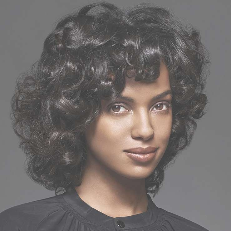 Explore Photos of Curly Black Medium Hairstyles (Showing 2 of 15 Photos)