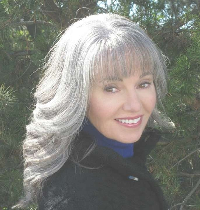129 Best Gray Hair I Love Images On Pinterest   Grey Hair, White Throughout Current Medium Haircuts For Grey Haired Woman (View 8 of 25)