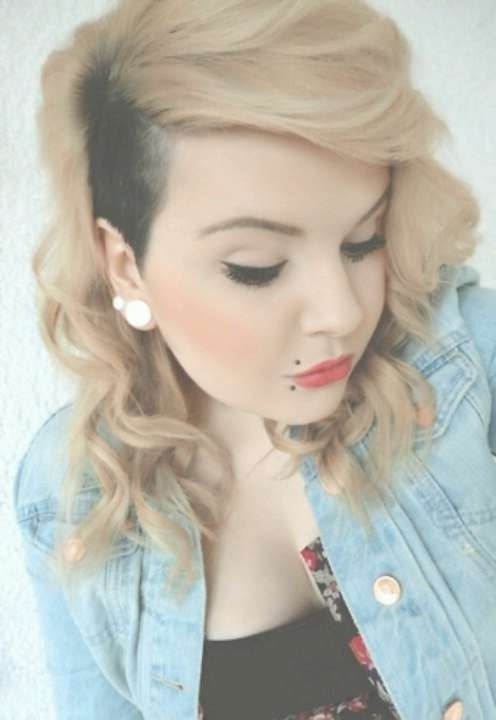 13 Best Undercuts I Like Images On Pinterest | Hair Cut, Hair Dos Intended For Newest Medium Haircuts With Shaved Sides (View 4 of 25)