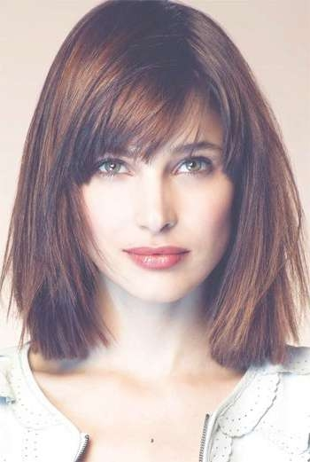 13 Fabulous Medium Hairstyles With Bangs – Pretty Designs For Current Medium Hairstyles With A Fringe (View 6 of 25)