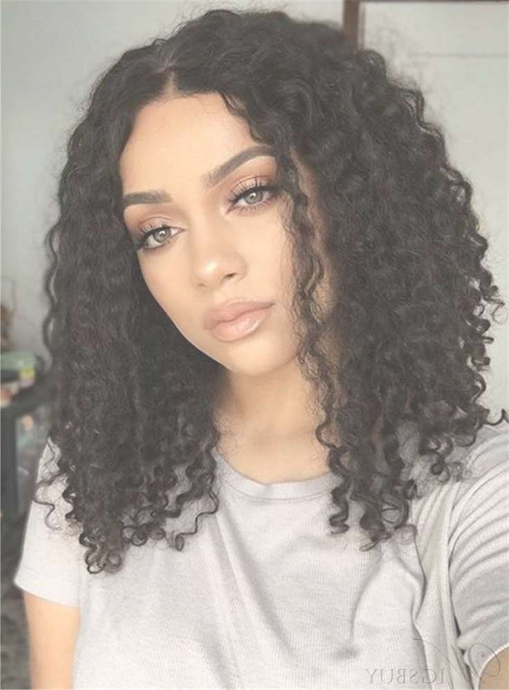 Image Gallery Of Medium Haircuts For Naturally Curly Hair And Round
