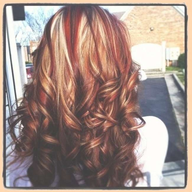 139 Best My Own Color Hairstyles Images On Pinterest | Hair Colors Regarding Most Recent Medium Haircuts With Red And Blonde Highlights (View 17 of 25)