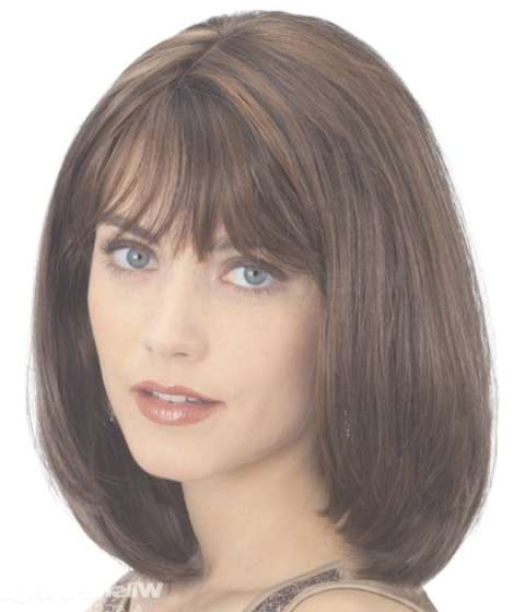 14 Finest Medium Length Hairstyles For Round Faces | Circletrest Regarding Most Current Medium Haircuts With Bangs For Round Faces (View 18 of 25)