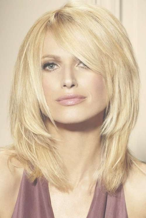 14 Trendy Medium Layered Hairstyles – Pretty Designs Throughout Most Current Medium Hairstyles Layered Around Face (View 8 of 25)