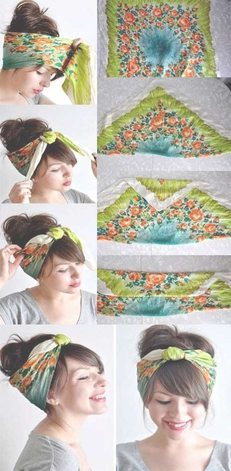 14 Tutorials For Bandana Hairstyles – Pretty Designs With Most Up To Date Medium Hairstyles With Bandanas (View 5 of 15)