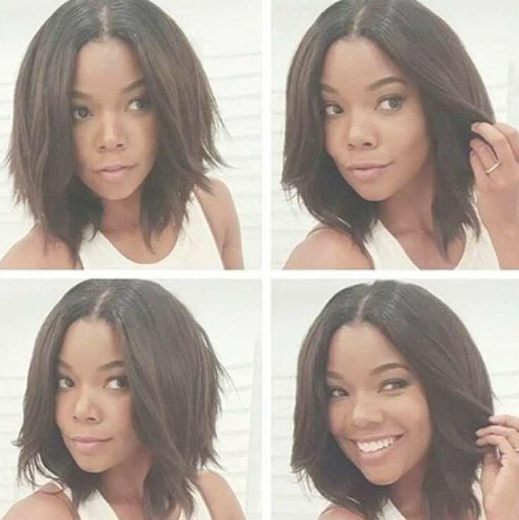 15 Best Short Asymmetrical Bob Images On Pinterest | Black Women With Recent Black Bob Medium Hairstyles (View 3 of 15)
