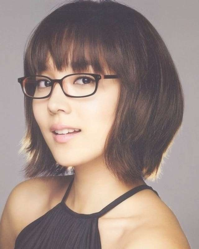 15 Best Women Hairstyle With Glasses Images On Pinterest Intended For Most Current Medium Haircuts For Women Who Wear Glasses (View 17 of 25)