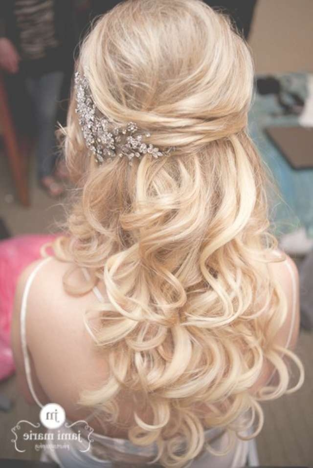 15 Fabulous Half Up Half Down Wedding Hairstyles Inside Current Wedding Half Up Medium Hairstyles (View 10 of 25)