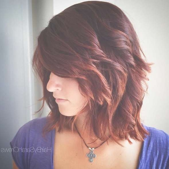 15 Hottest Medium Length Hairstyles With Bangs – Popular Haircuts Inside Most Recent Medium Haircuts With Lots Of Layers (View 9 of 25)