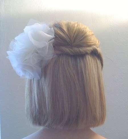 15 Latest Half Up Half Down Wedding Hairstyles For Trendy Brides Regarding Half Up Half Down Bob Haircuts (View 6 of 25)
