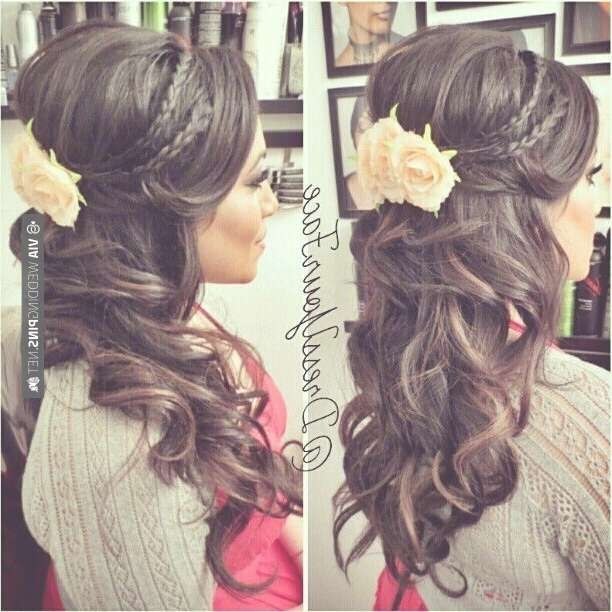 15 Latest Half Up Half Down Wedding Hairstyles For Trendy Brides Throughout Latest Wedding Half Up Medium Hairstyles (View 4 of 25)