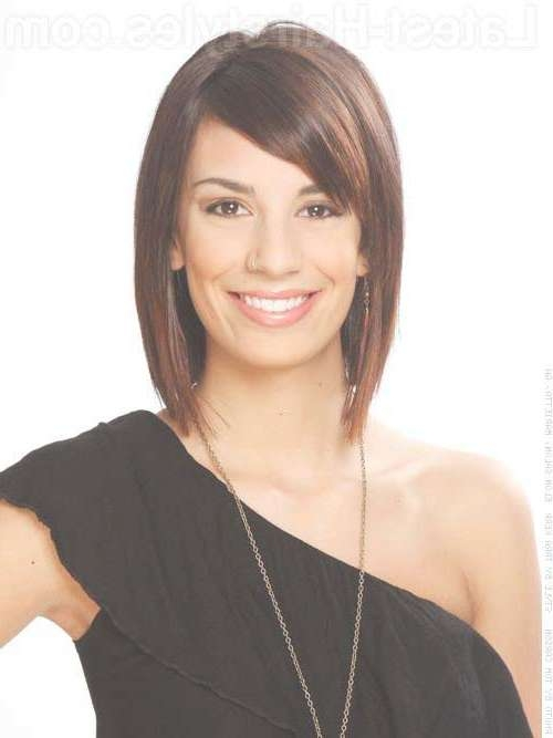 View Gallery Of Layered Medium Haircuts With Side Bangs Showing 24