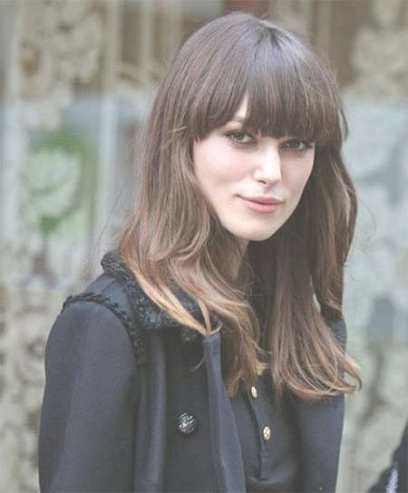 15+ Modern Medium Length Haircuts With Bangs, Layers For Thick Regarding Most Popular Medium Hairstyles With Bangs For Round Faces (View 15 of 25)