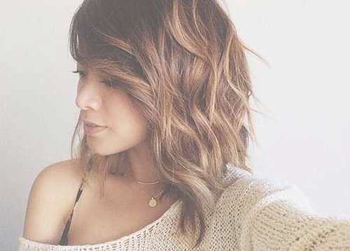 15 Nice Layered Wavy Bob | Short Hairstyles 2016 – 2017 | Most Within Short Long Bob Hairstyles (View 4 of 25)