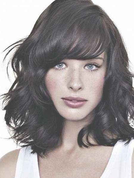 15+ Pics Of Medium Length Hairstyles With Bangs And Layers With Regard To Most Up To Date Black Medium Hairstyles With Bangs And Layers (View 21 of 25)
