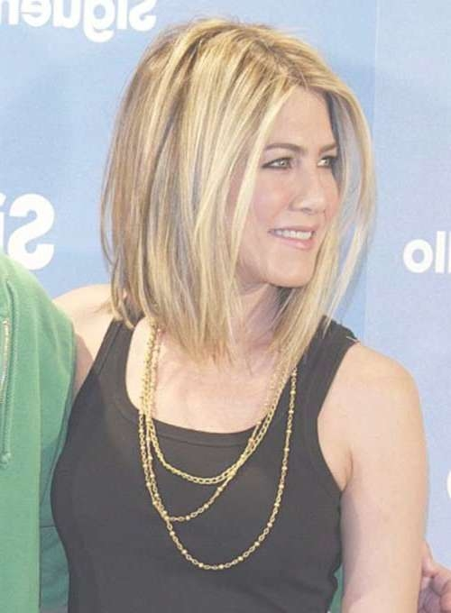 15 Spectacular Jennifer Aniston Long Bob Pictures – Crazyforus Within Jennifer Aniston Long Bob Haircuts (View 4 of 25)