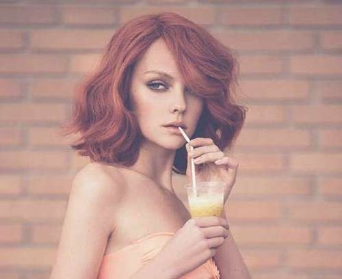 15 Thick Medium Length Hairstyles | Hairstyles & Haircuts 2016 – 2017 With Latest Medium Haircuts With Red Hair (View 18 of 25)