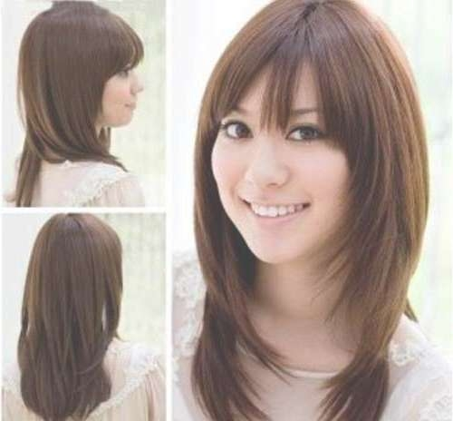 15 Thick Medium Length Hairstyles | Hairstyles & Haircuts 2016 – 2017 With Regard To Best And Newest Medium Haircuts With Bangs For Round Faces (View 11 of 25)
