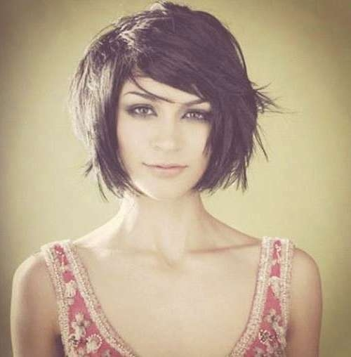 15 Unique Chin Length Layered Bob   Short Hairstyles 2016 – 2017 For Unique Bob Hairstyles (View 2 of 25)