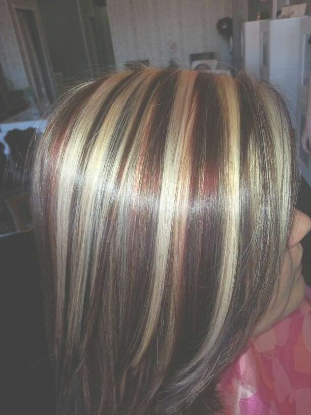 158 Best Hair Images On Pinterest | Hair Ideas, Hair Color And With Regard To Recent Medium Haircuts With Red And Blonde Highlights (View 6 of 25)