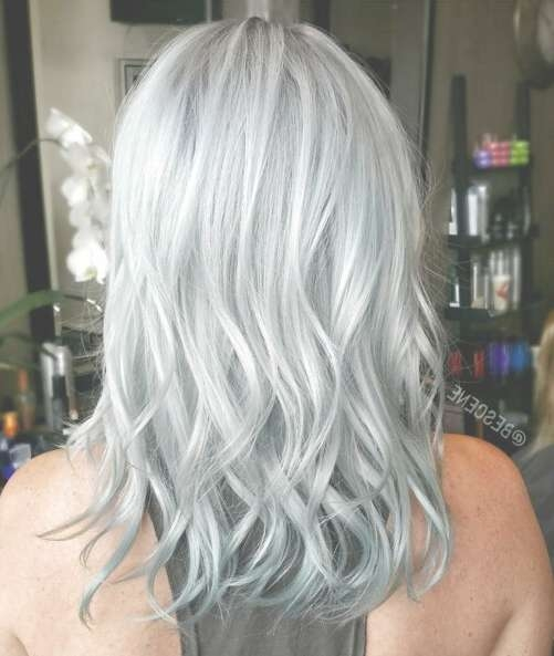 16 Flattering Medium Hairstyles For 2018 – Pretty Designs Inside Latest Gray Hair Medium Hairstyles (View 11 of 15)