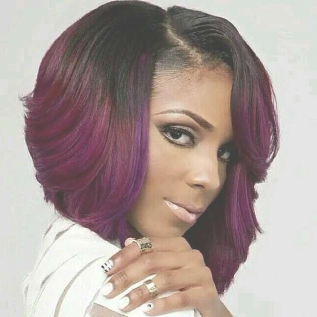 17 Best Color Hairstyles Images On Pinterest | Hair Dos, Colourful Within Most Current Medium Hairstyles With Color For Black Women (View 4 of 15)