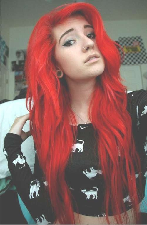 17 Hair Color Ideas For Bright Red Hair Regarding 2018 Bright Red Medium Hairstyles (View 8 of 15)
