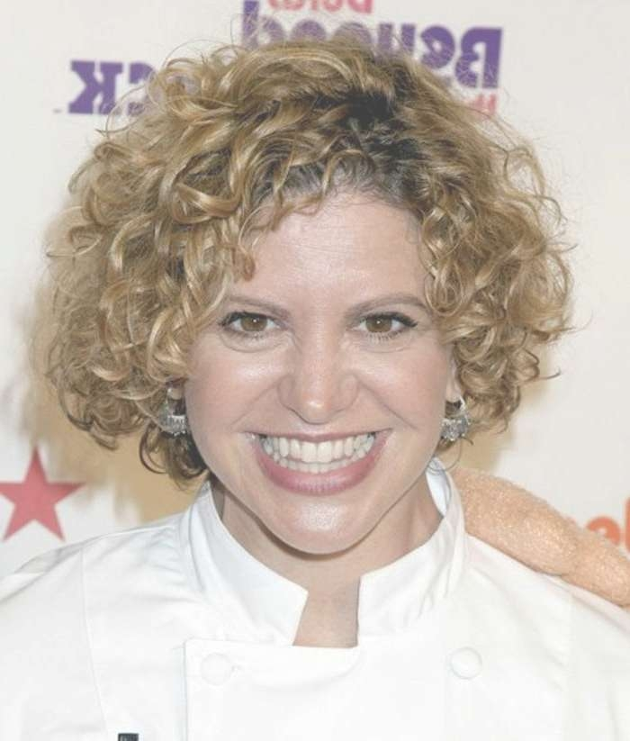 Photo Gallery Of Medium Haircuts For Older Women With Curly Hair