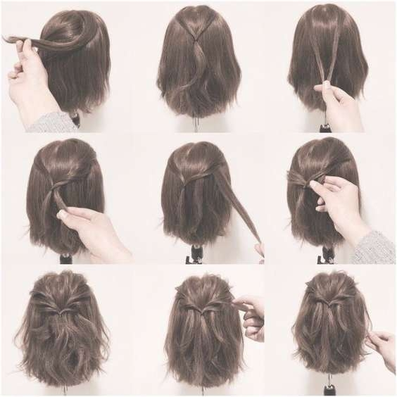 18 Half Up Hairstyles For Short And Medium Length Hair To Try Now Pertaining To Most Up To Date Half Short Half Medium Haircuts (View 8 of 25)