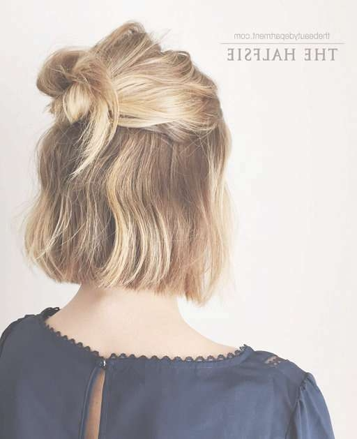 18 Half Up Hairstyles For Short And Medium Length Hair To Try Now With Most Recently Medium Hairstyles Half Up (View 7 of 25)