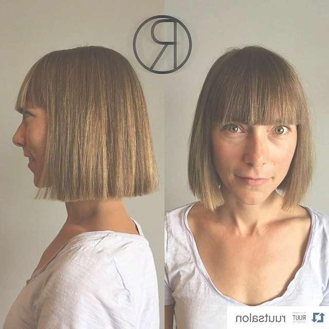 18 Popular Blunt Bob Hairstyles For Short Hair – Short Bob In Blunt Cut Bob Haircuts (View 2 of 25)