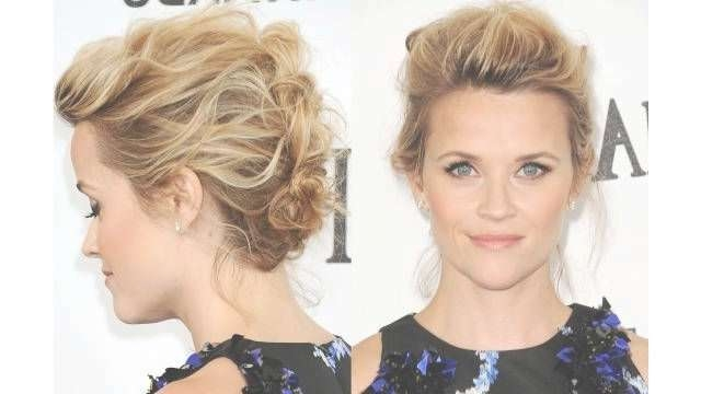 18 Pretty Updos For Short Hair: Clever Tricks With A Handful Of For Bob Hair Updo (View 6 of 25)