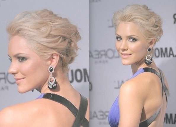 18 Pretty Updos For Short Hair: Clever Tricks With A Handful Of Intended For Bob Hair Updo (View 16 of 25)