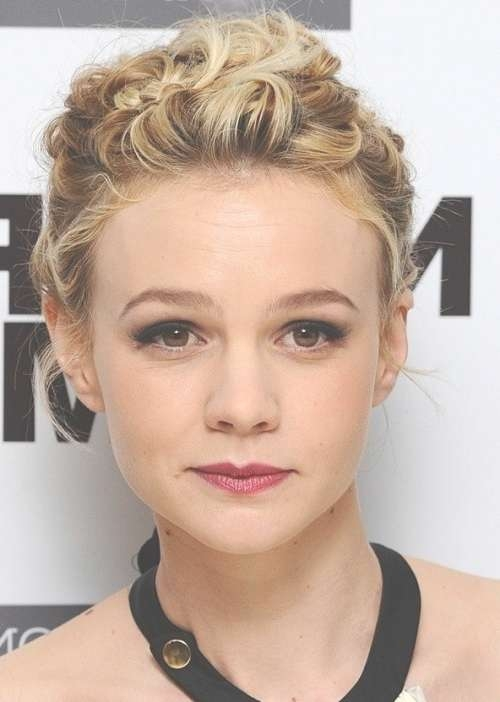 18 Pretty Updos For Short Hair: Clever Tricks With A Handful Of Intended For Updos For Bob Haircuts (View 17 of 25)