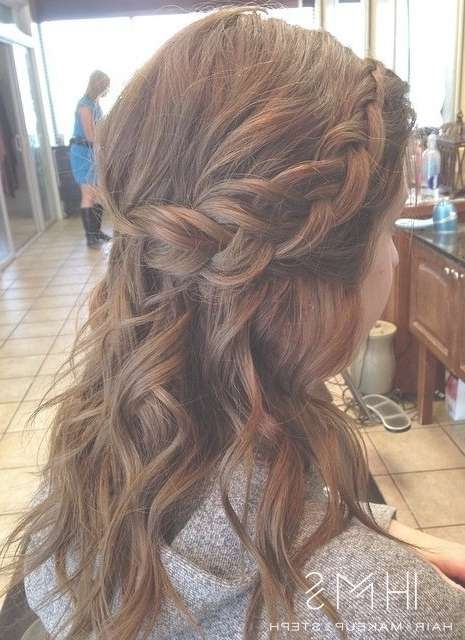 18 Shoulder Length Layered Hairstyles – Crazyforus Throughout Best And Newest Half Up Medium Hairstyles (View 22 of 25)