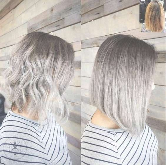 18 Winter Hair Color Ideas For 2017: Ombre, Balayage Hair Styles Pertaining To Newest Medium Haircuts For Grey Hair (View 15 of 25)