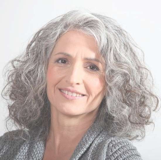 19 Best Grey Hair Images On Pinterest   Grey Hair, White Hair And Inside Most Up To Date Medium Haircuts For Grey Haired Woman (View 15 of 25)