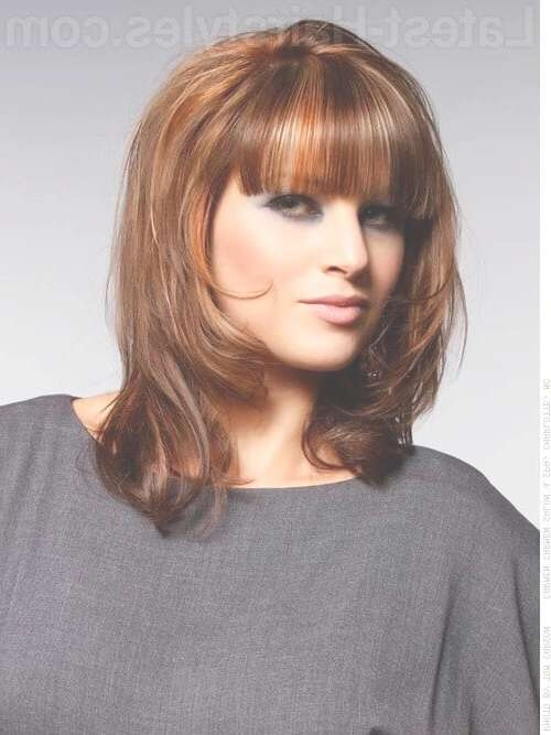 Featured Photo of Medium Hairstyles For Square Faces With Bangs