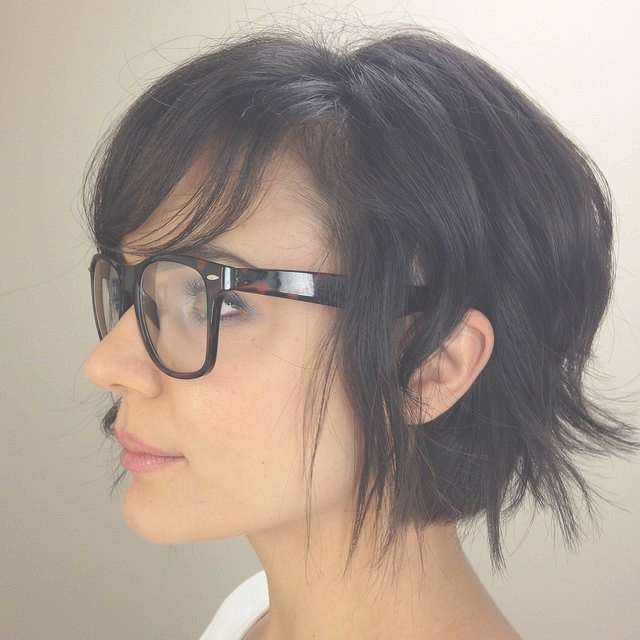 192 Best Short Hair & Glasses Images On Pinterest | White Hair Within Newest Medium Haircuts With Bangs And Glasses (View 21 of 25)