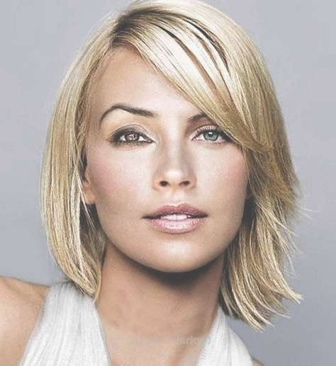 196 Best Hairstyles For Oval Faces Images On Pinterest | Hair Cuts In Most Recently Medium Hairstyles For Women With Long Faces (View 9 of 25)