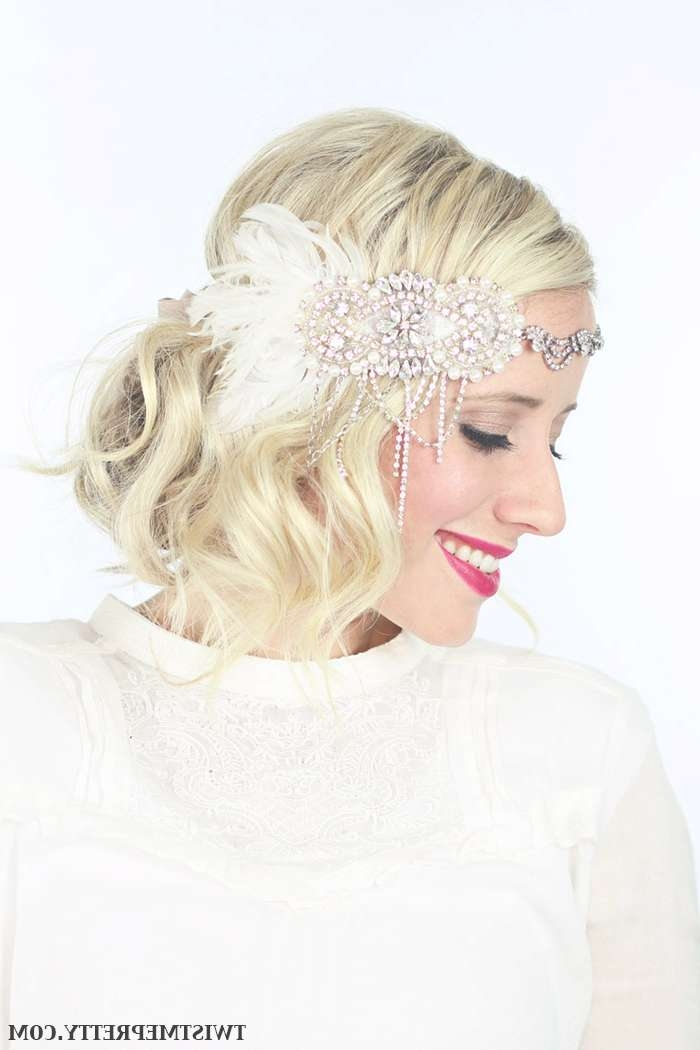 2 Gorgeous Gatsby Hairstyles For Halloween Or A Wedding – Twist In Most Up To Date Flapper Girl Medium Hairstyles (View 4 of 25)
