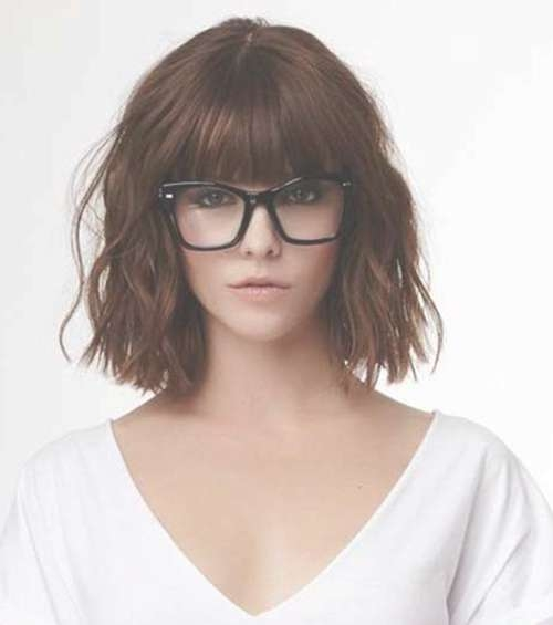 20 Best Hairstyles For Women With Glasses | Hairstyles & Haircuts With Regard To Most Current Medium Haircuts With Bangs And Glasses (View 16 of 25)