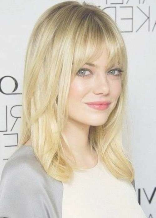 20 Best Medium Hair Cuts With Bangs   Hairstyles & Haircuts 2016 With Regard To Most Popular Medium Haircuts With Straight Bangs (View 19 of 25)