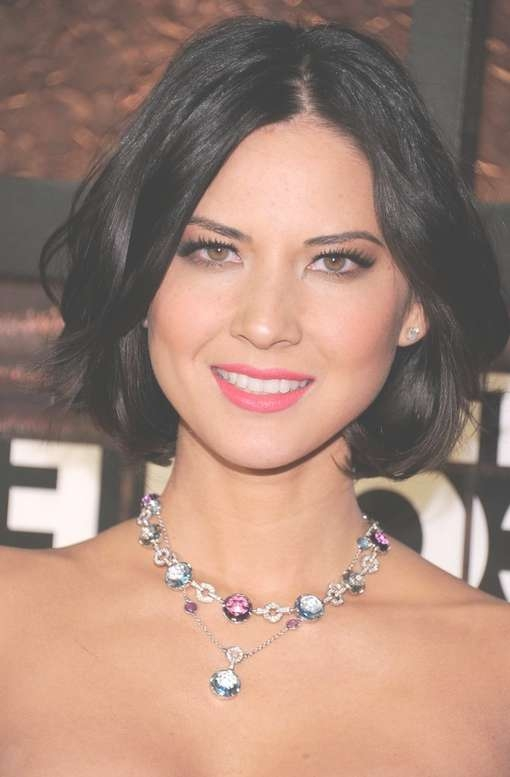 20 Chic Hairstyles From Olivia Munn – Pretty Designs For Most Current Medium Hairstyles For Evening Wear (View 20 of 25)