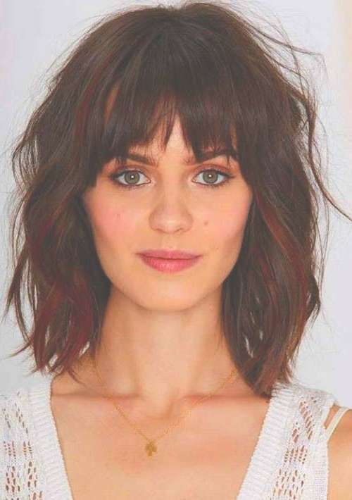 20 Haircuts With Bangs For Round Faces | Hairstyles & Haircuts In Newest Medium Hairstyles With Bangs For Round Faces (View 6 of 25)