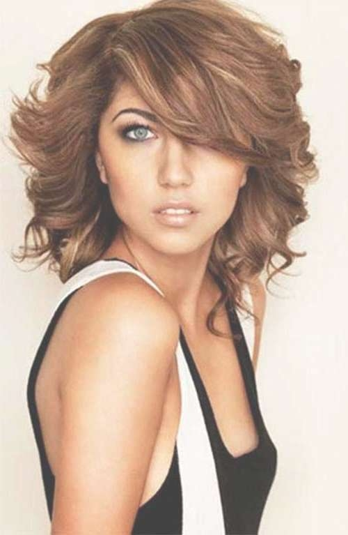 20 Haircuts With Bangs For Round Faces | Hairstyles & Haircuts With Regard To Most Recent Medium Haircuts For Round Faces With Curly Hair (View 11 of 25)