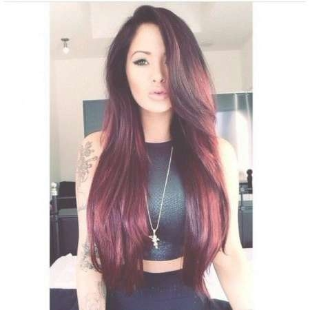 20 Ideas For Burgundy Hair Color In Brunettes Blondes And Red Heads Inside Most Popular Burgundy Medium Hairstyles (View 10 of 15)