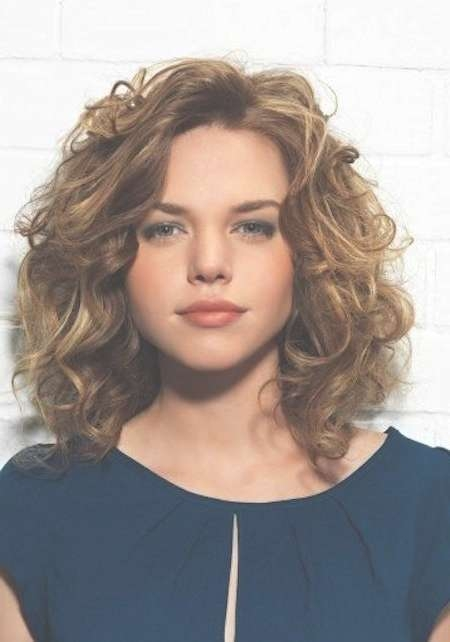 20 Layered Hairstyles For Curly Medium Length Hair Pictures | Hair Regarding Most Recent Medium Haircuts For Curly Hair And Round Face (View 4 of 25)